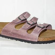 New Birkenstock Florida 41 Eu Antique Lavender Natural Leather (053821) Photo