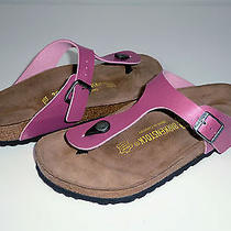 New Birkenstock Gizeh 39 L8m6 Birko-Flor Rose Wine (943841) Photo