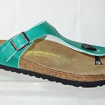 New Birkenstock Gizeh 40 Eu Antique Mint Natural Leather (845111) Photo