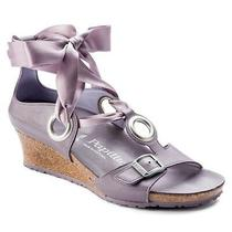New Birkenstock Papillio Emmy Wedge Sandals Lilac Women Size 6 (37 Eur)  150 Photo