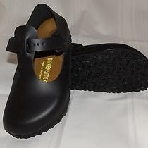New Birkenstock Paris Womens Black Flats Sandals Shoes Size 7  Photo