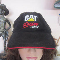New Black Caterpillar Ball Cap Hat -Cat Racing- Ward Burton 22 Nascar Photo