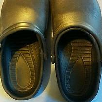 New Black Croc-Like Slip on Water Proof Shoes Size 6 Photo