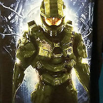 New Black Halo 4 Video Game Shooter Master Chief T-Shirt Size Xl Photo