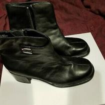 New Black Ipanema Leather Upper Ankle Length Boots Size 8. Photo