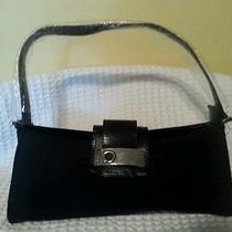 New  Black Suede Handbag  Photo