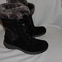 New Black Suede Leather/faux Fur/quilted Merrell