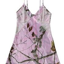 New Black Widow Women's Ladies Realtree Camo Nightie Lace Inset Chemise Lingerie Photo