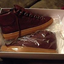 New Blalenciaga Lambskin Sneaker With Gum Sole. Pelle S.gomm Arena Acajou Fonce Photo