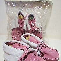 New Bloom Brothers Baby Toddler Girl Child Doll Moccasins Pink Size 1 2 3 4 6 Photo