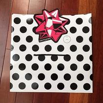 New Bloomingdales Bloomies Paper Gift Bag With a Bow - Folds Into a Gift Box Photo