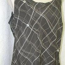 New Bloomingdales 155 Joie Mother of Pearl Heart Button Trim Tank Top S Photo