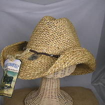 New Blue Chair Bay Kenny Chesney Moroca Straw Natural Breezer Western Cowboy Hat Photo