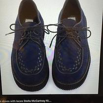 New Blue Lace Shoes Girls 11 Like Stella Mccartney Darling Photo