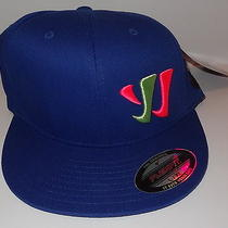 New  Blue Yellow & Pink Warrior Lacrosse Prism Hat  L/xl Flat Brim Flex Fit Photo