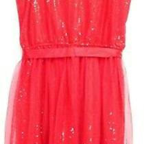 New Blush by Us Angels Girls Red Sequins Fit-to-Flare Pretty Formal Dress 16 Photo