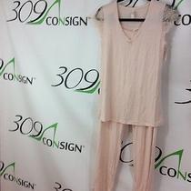 New Blush Lingerie 78 Women's Medium 8 10 Pink Lace Sleep Wear Pajamas Pj Set M Photo