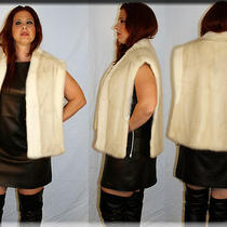 New Blush Mink Fur Vest - One Size Fits All - Efurs4less Photo