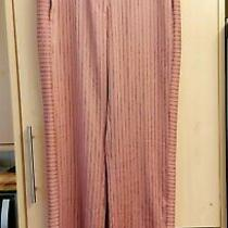New Bnwot Topshop Blush Pink Silky Feel Pinstripe Wide Leg Trousers Sz 10  Photo