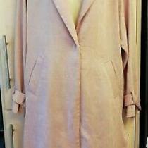 New Bnwt Next Blush Long Oversized Lightweight Coat Sz 10 58 Ribbed Crepe  Photo