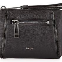 New Botkier Soho Black Leather Wristlet Clutch Bag W/zipper Details R78 Photo