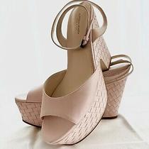 New Bottega Veneta Zoccol Pelle S.gomma Nappa 39.5 Womens Platform Heels  Blush Photo