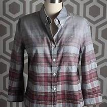 New Boy by Band of Outsiders Degrade Check Denim Shirt 2 340 Photo