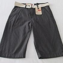 New Boy's Belted Levi's 514 Slim Straight Shorts Size 14 27