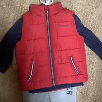 New Boy's Blue  Red Tommy Hilfiger 3 Piece Set  Size 12 Months Pants Vest Shirt Photo