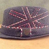 New Boys Fore Axel & Hudson Union Jack Gray Fedora Hat - M/l Photo