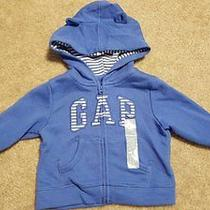 New Boys Girls Gap Blue Bear Ears Hoodie Size 6-12 Months Photo
