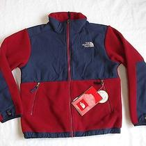 New Boys the North Face Denali Fleece Jacket Biking Red Medium 10-12 109 Photo