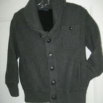 New Boys Xs 4-5 Dark Gray  Gap Kids Lined Button Cardigan Sweater Jacket Shawl Photo