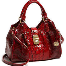 New Brahmin Elissa Mini Ruby Croc-Embossed Leather Crossbody Bag Purse 245 Cute Photo