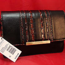 New Brahmin Genuine Leather Hudson Convertible Black Tuscan Vineyard Purse Bag Photo