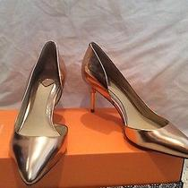 New Brian Atwood Marcias Bronze Rose Gold Pointed Pumps Heels Shoes 7 Metallic Photo