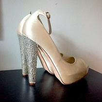 New Brian Atwood Martina Swarovski Ivory Pumps 39 Photo