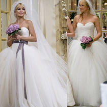 New Bride Wars Strapless Ball Gown Wedding Dress W/sash Sz 2-24 Kate Hudson Photo