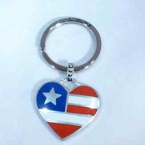 New Brighton Freedom Heart  Silver Plated Key Chain Ring Fob E14450  Photo