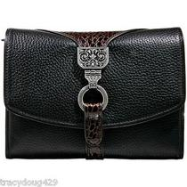 New Brighton Handbag Leather Organizer Black Leather Photo