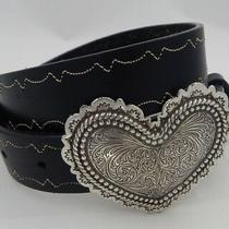 New Brighton Heartbeat Leather Belt  Size 28 Made in Usa  45203 Photo