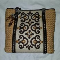 New Brighton Henna Straw Shoulder Tote Bag Retail 205 Photo