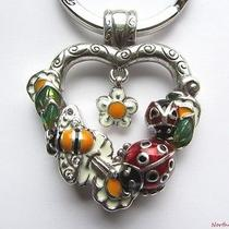 New Brighton Love Bug Pendant Key Fob Keyring Keychain Bee Ladybug Flower Heart Photo