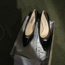 New Brighton Young 275 Black and Silver Rivet Patent Leather Heels Pumps 8m Photo