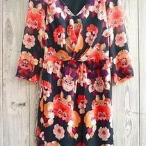 New Broadway & Broome by Madewell Floral Print v-Neck Tea Dress 2 Xs Photo