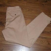 New Brooks Brothers Advantage Chino Hudson Beige Flat Front Pants 34x34 New Photo