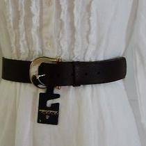 New Brooks Brothers Brown Leather Belt 248 35.5 First Hole 39.5 Last Hole Photo