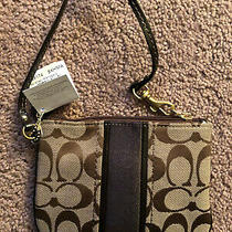 New Brown Coach Zip Wristlet F49174 -Brand New With Tags Authentic Purse Photo