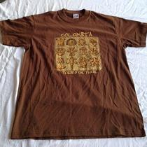 New Brown Columbia Columbian as Collection T-Shirt Size Medium Free Shipping Photo