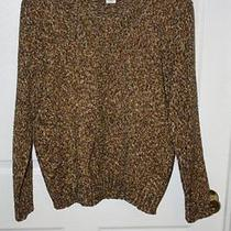 New Brown Knit Sweater v-Neck  by Classic Elements Sz Xl Photo